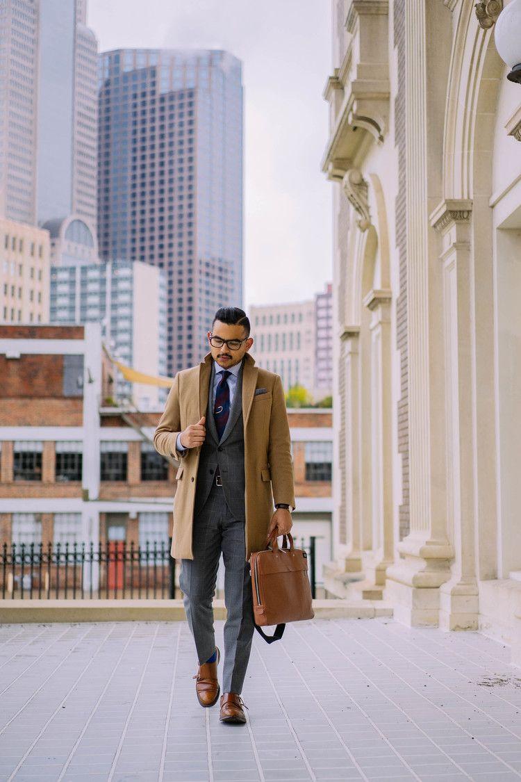 Business camel men wear