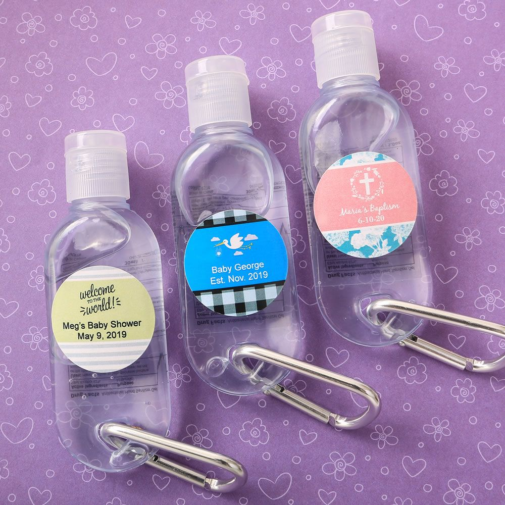 Personalized Hand Sanitizer In Clear Container With Flip Open Top
