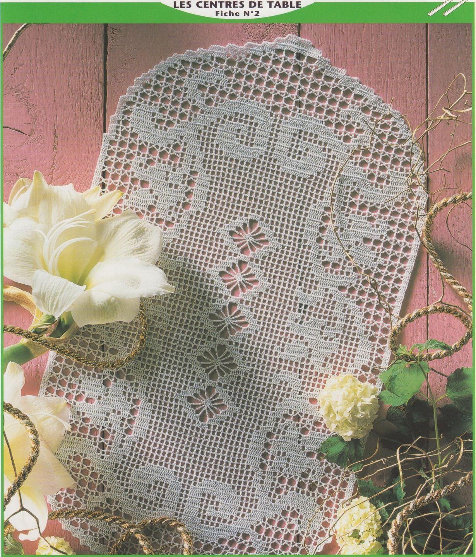 Grand Napperon Au Crochet pour grand napperon pour centre de table / a crocheter soi-même