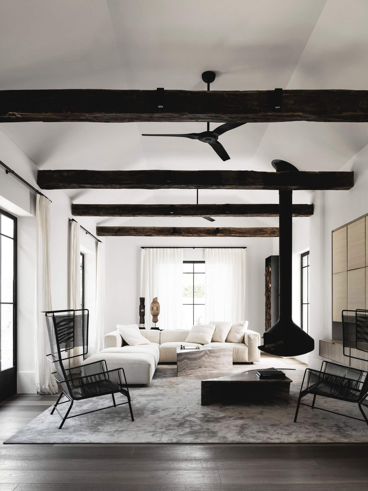 Get the Look Flemish Farmhouse is part of Cottage Living Room Black - Coveting a European look that marries raw materials with sleek design cues  Here's our product and material recommendations for creating a Flemish Farmhouse space