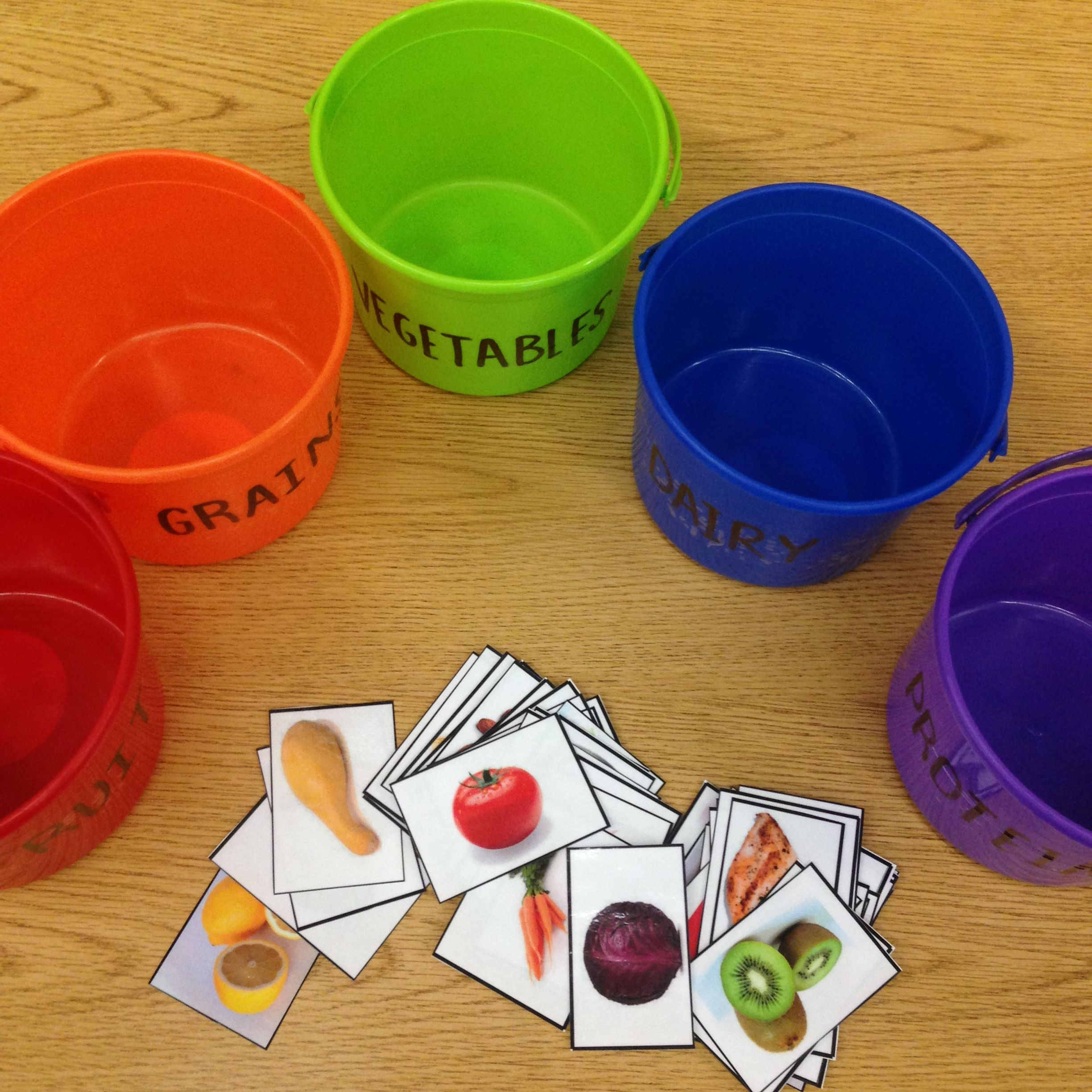 Teaching Kids About The Food Groups Used Buckets The Same