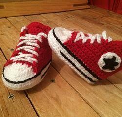8e1537e5a1bd0 Converse chaussures bébé tutoriel crochet facile