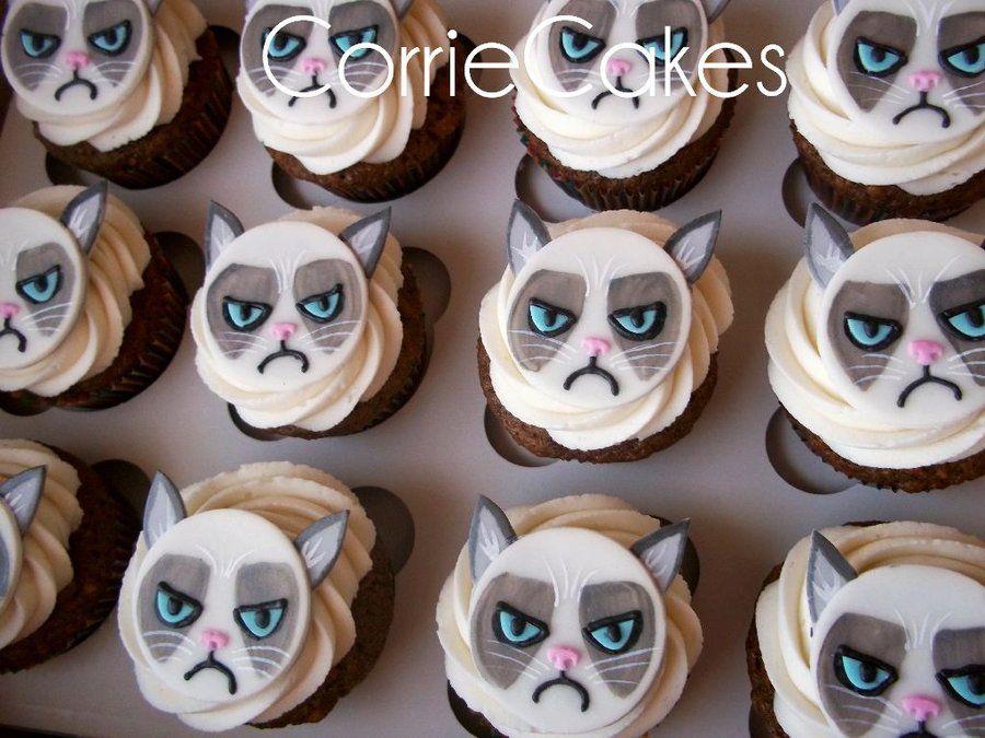 Grumpy Cat Cupcakes Cat Cupcakes