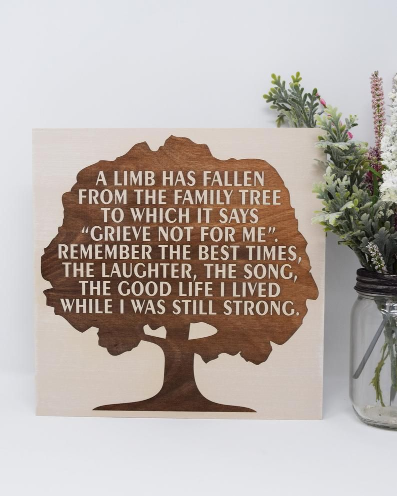A Limb Has Fallen From The Family Tree : fallen, family, Fallen, Family, Which, Engraved, Signs,, Tree,, Remembrance, Gifts