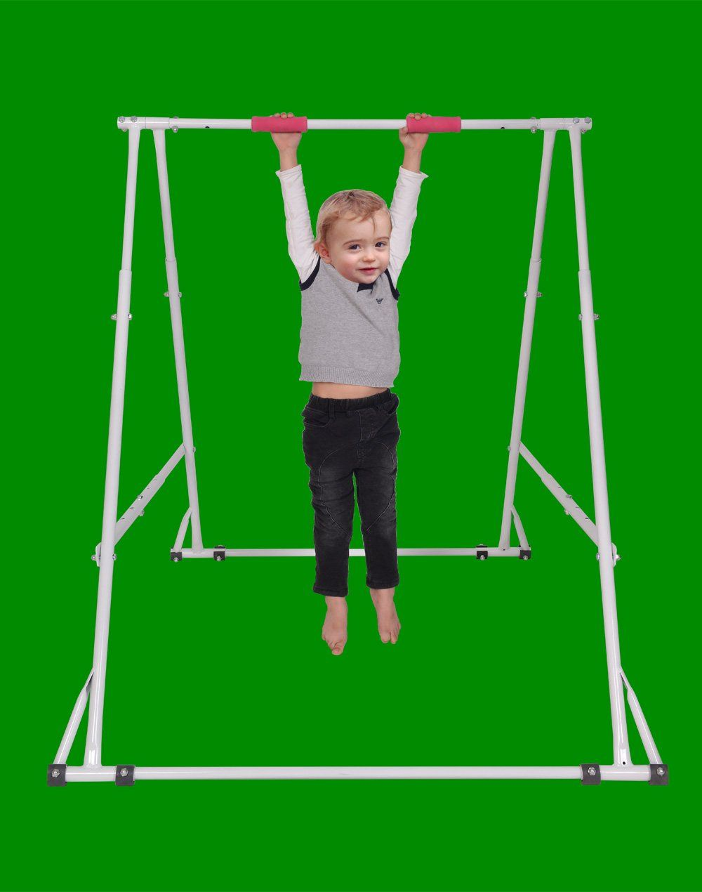 Home Workout Gymnastics Bar For Kids Height Adjustable Chin Up Bar