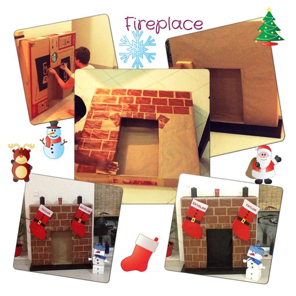 Fireplace Domace urobeny krb z kartonov!!!