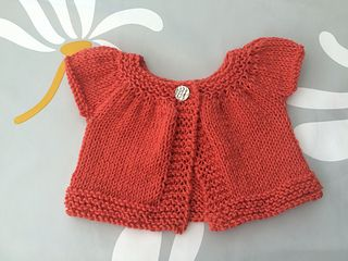 """Knitted sweater for 16"""" doll"""