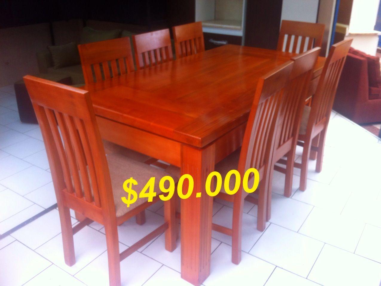 Comedor hecho en madera Raulí 8 sillas. | Muebles en oferta, pagó ...
