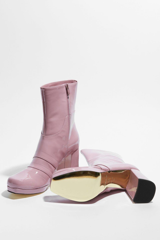a7109ae1f68062 Nancy Patent Pink - Amélie Pichard Vernis Rose, Cuir Verni, Bottines En Cuir ,