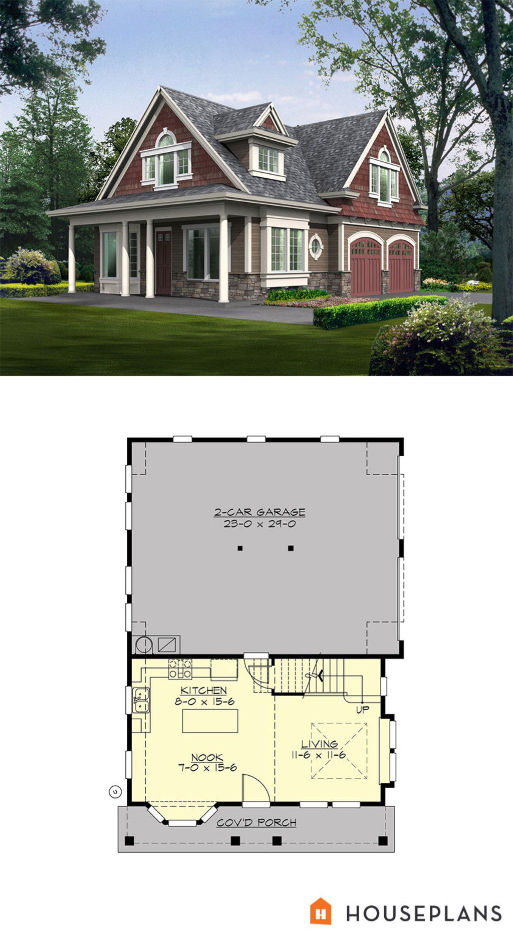 Cottage Style House Plan 2 Beds 2 Baths 1295 Sq/Ft Plan