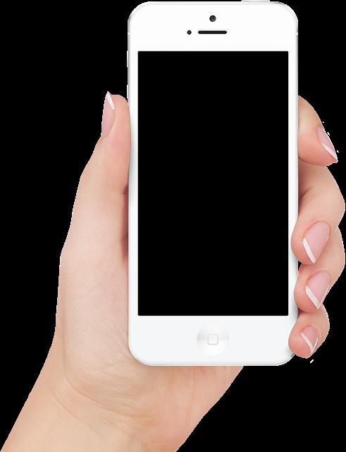 «Мобильные телефоны в руке» Коллекция клипарта в PNG ...