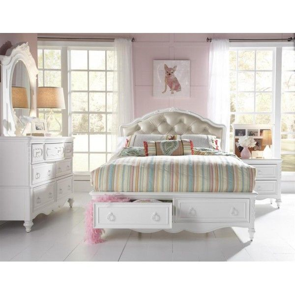 Sweetheart Full 3 PC Bedroom Set   Samuel Lawrence   Star Furniture     Shop for Sweetheart Full Upholstered Storage Bed  and other Youth Bedroom  Beds at Star Furniture TX