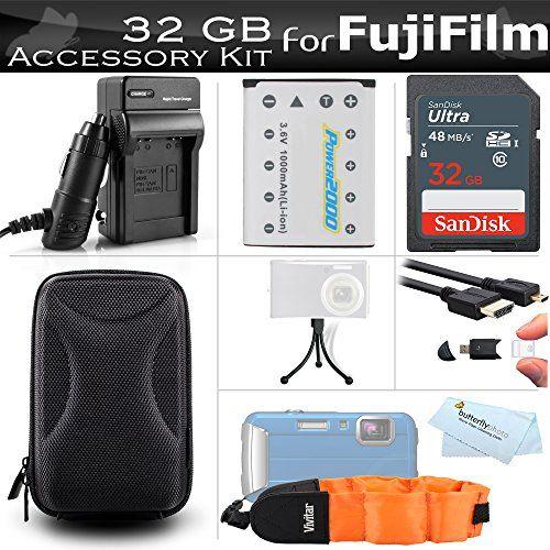 32GB Accessories Kit For Fujifilm FinePix XP70 XP80 XP90