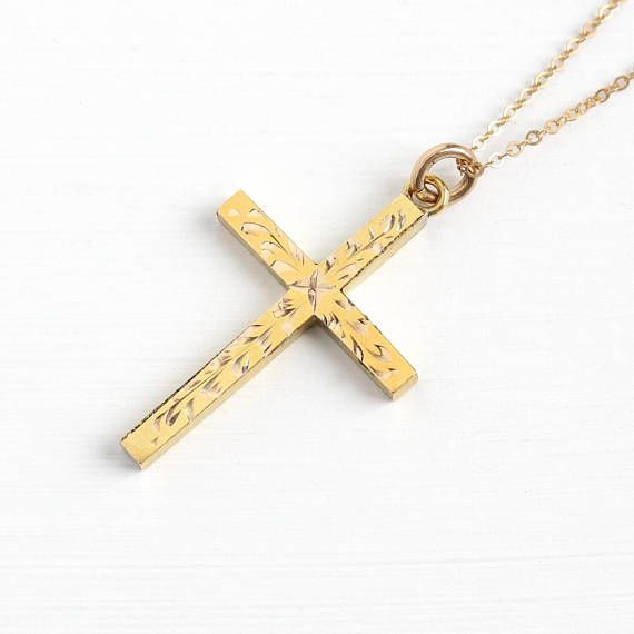 DiamondJewelryNY 14kt Gold Filled Cross//Navy Pendant