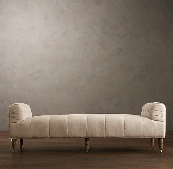 This Would Be Fun At The End Of A Bed Camille Tufted Settee Ottomans Benches Restoration