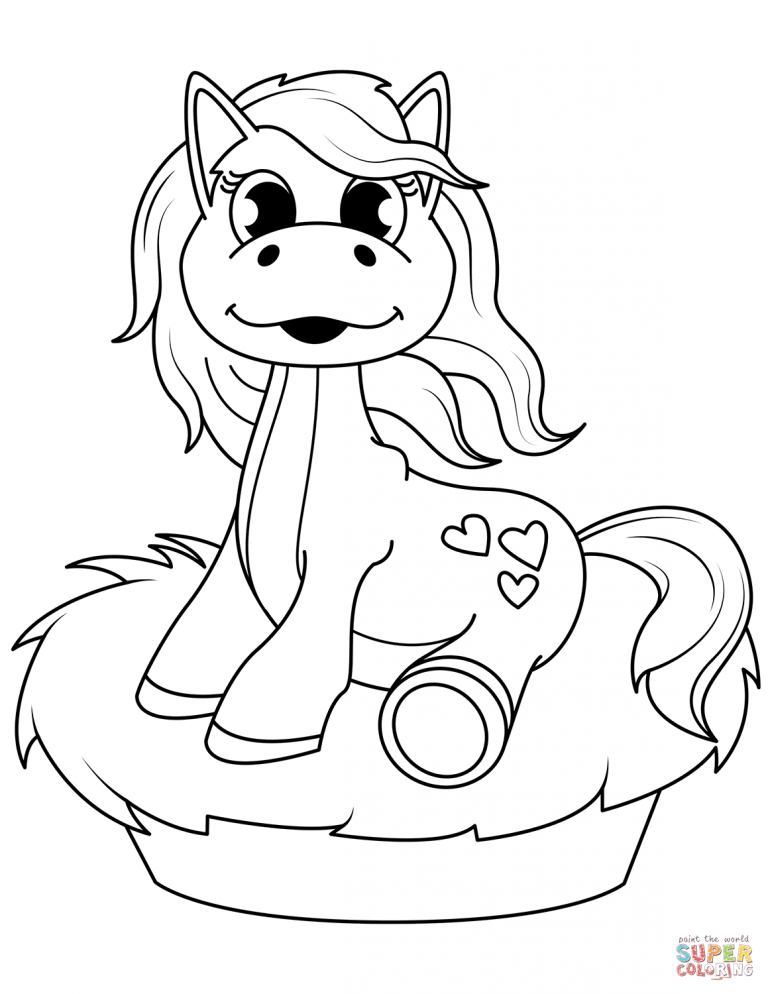 Free Printable Coloring Pages Throughout Cute Horse With Braided Mane And Tail Coloring Pages Horse Coloring Animal Coloring Pages Horse Coloring Pages
