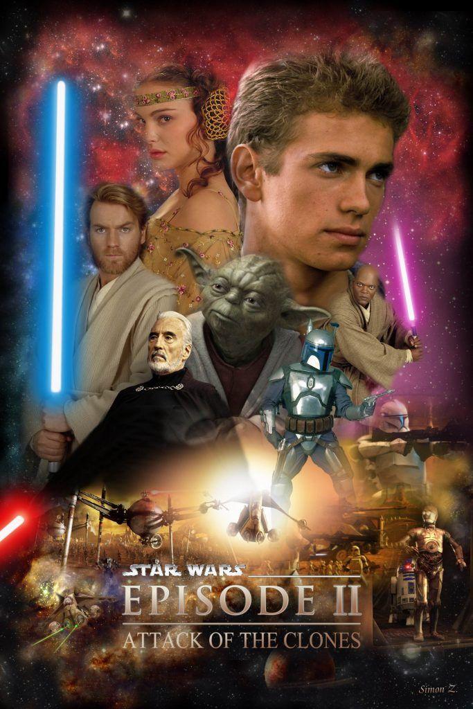 Star Wars Hd Printable Poster Wallpaper The Attack Of The Clones Cartazes De Cinema Cartazes De Filmes Posteres De Filmes