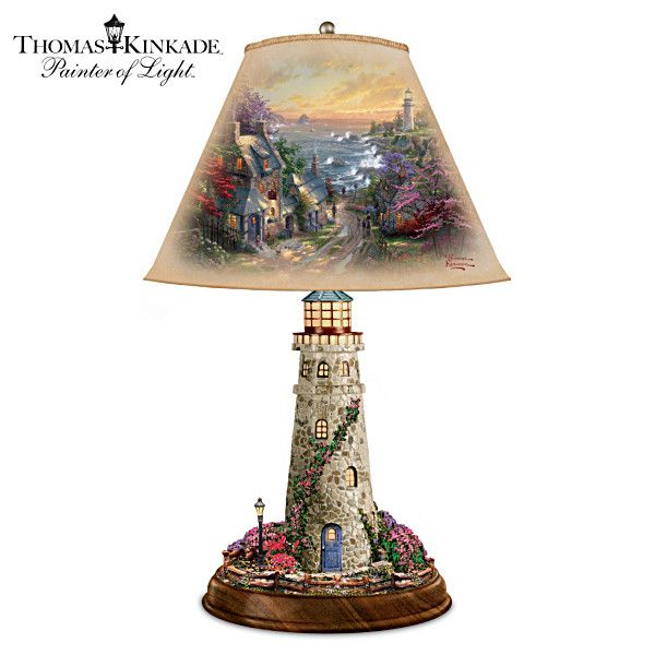 Thomas Kinkade The Village Lighthouse Tabletop Lamp