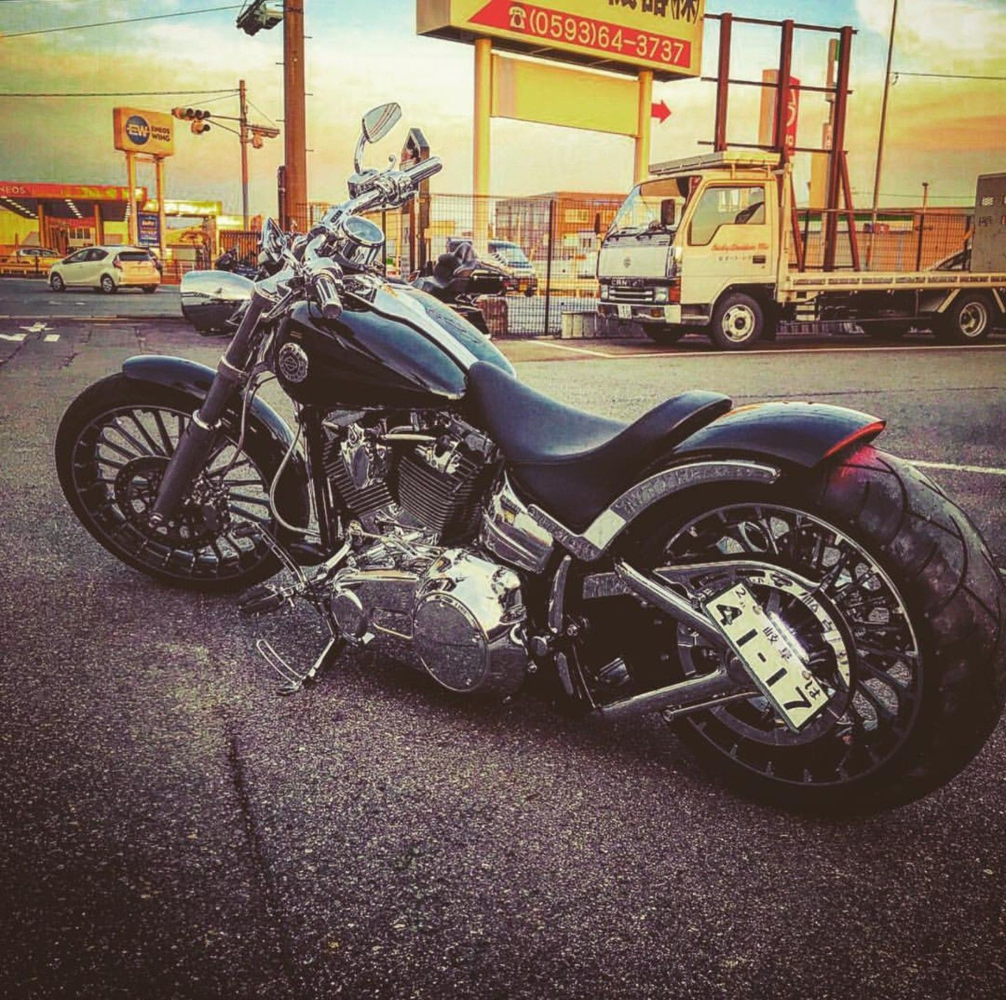 Idea by Eric Biviano on harley fxsb breakout fxbr Harley