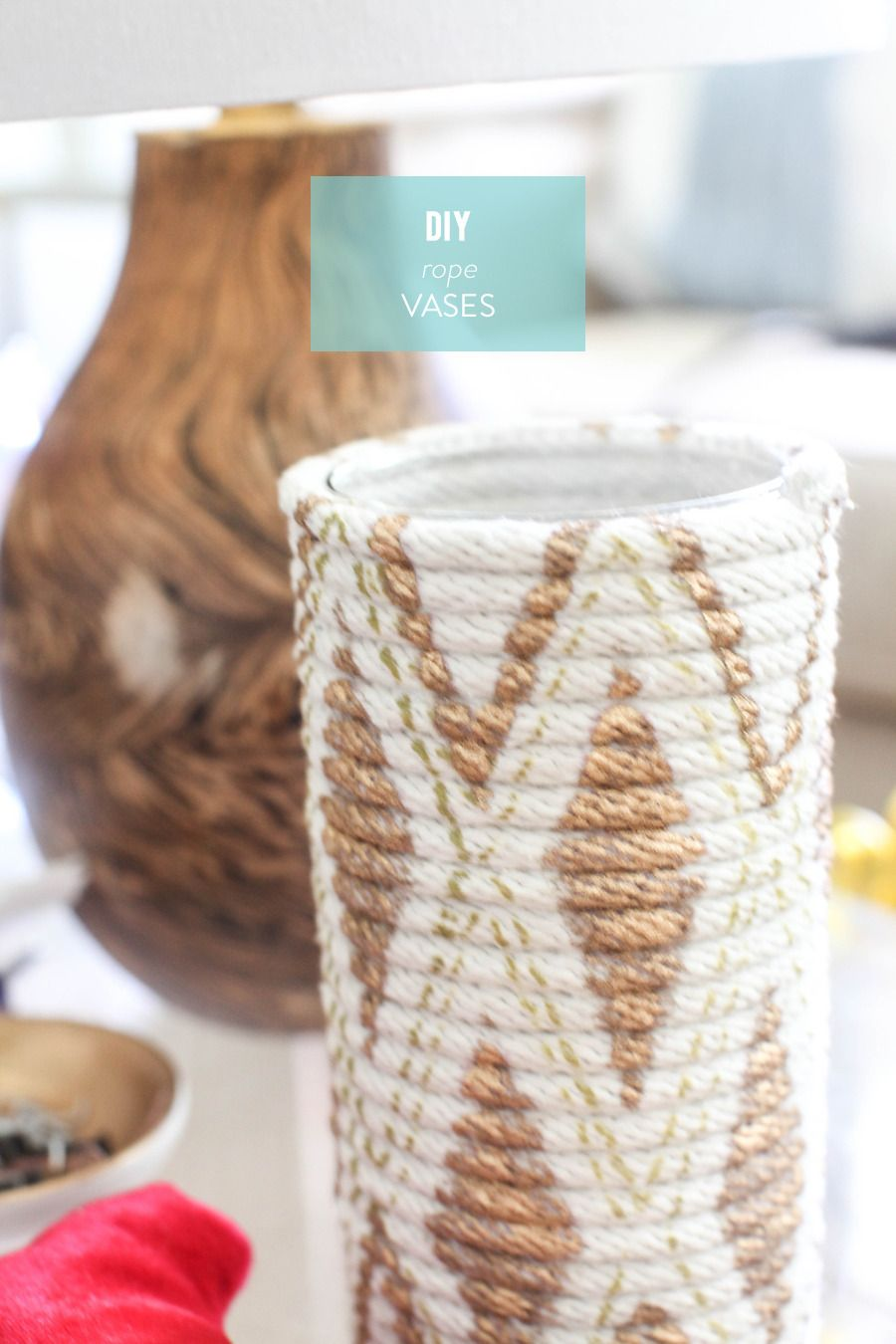 diy rope vase diy how to projects pinterest bricolage deco et diy. Black Bedroom Furniture Sets. Home Design Ideas