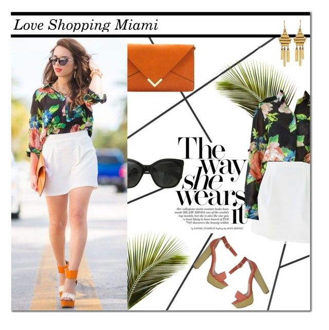 """Love Shopping Miami"" by kitti-takacs ❤ liked on Polyvore featuring CB2, Chanel, Qupid, Judy Geib and loveshoppingmiami"