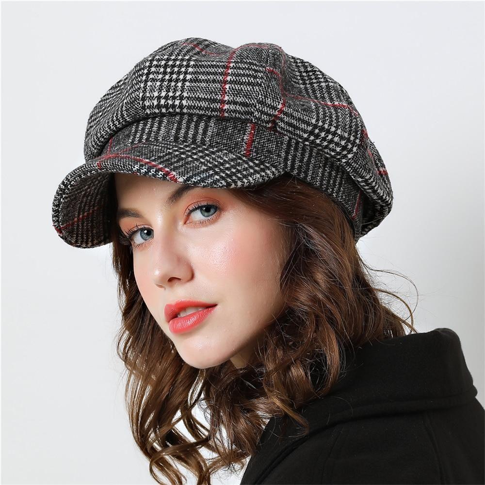 Womens Ladies Girls Beret Hat Winter Warm Fashion Cap Black Brown New One Size