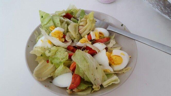 Salat und ei