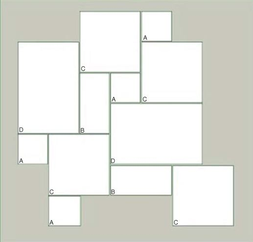 A 8x8 b 8x16 c 16x16 d 16x24 flooring pinterest for 8x8 kitchen layout