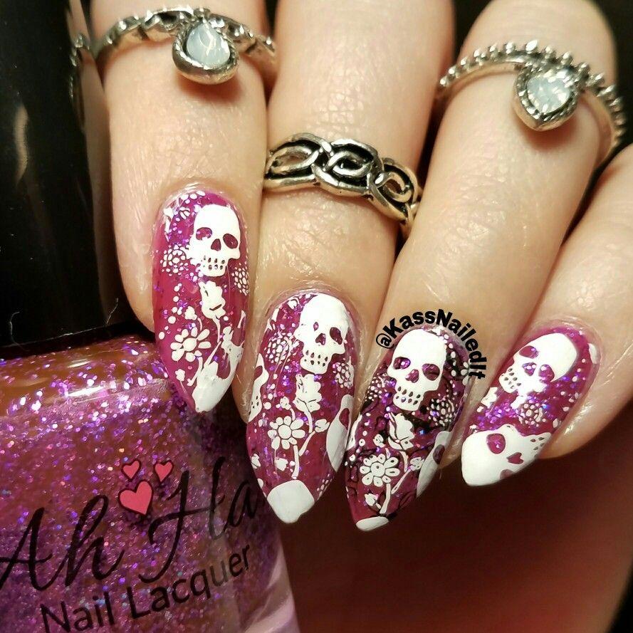 Dia de Los Muertos day of the dead. Stamped skeletons Halloween midi ...
