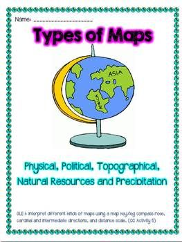 Worksheets Types Of Maps Worksheets learning maps for kids political map physical climate types of social studies grades 2 5