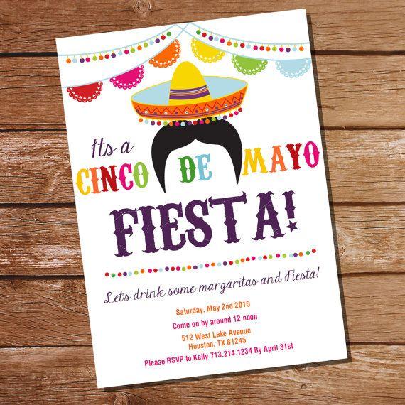 Cinco De Mayo Fiesta Invitation Mexican Fiesta Invitation Etsy Party Invite Template Margarita Party Invitations Fiesta Invitations