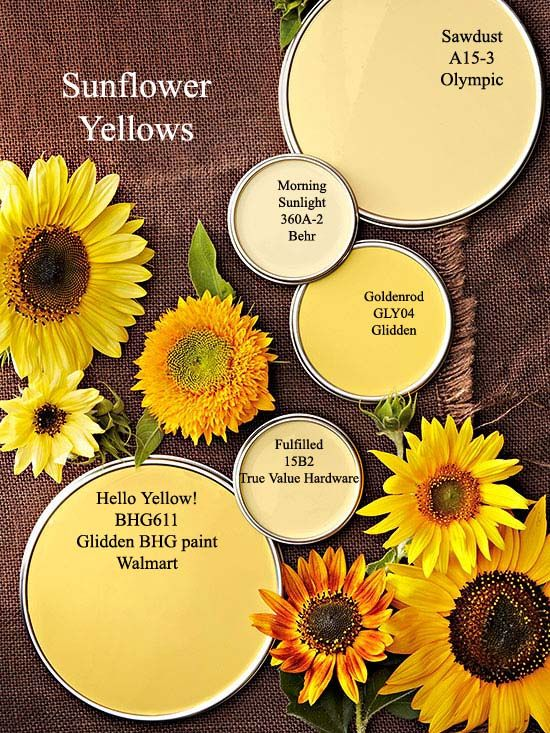 Sunflower Yellow Paint Colors Via Bhg Com Color Palettes