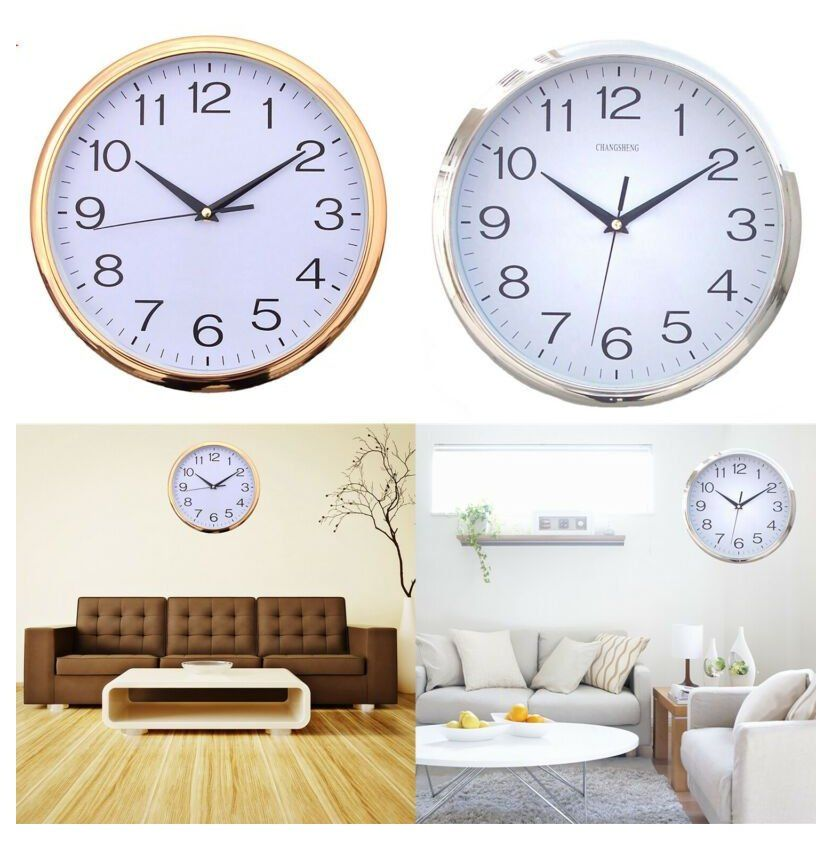 Wall Clock Silent Wallclocksilent 12 Inch Wall Clock Silent Non Ticking Quartz Battery Operate In 2020 Wall Clock Modern Wall Clock Glow In The Dark Diy Clock Wall
