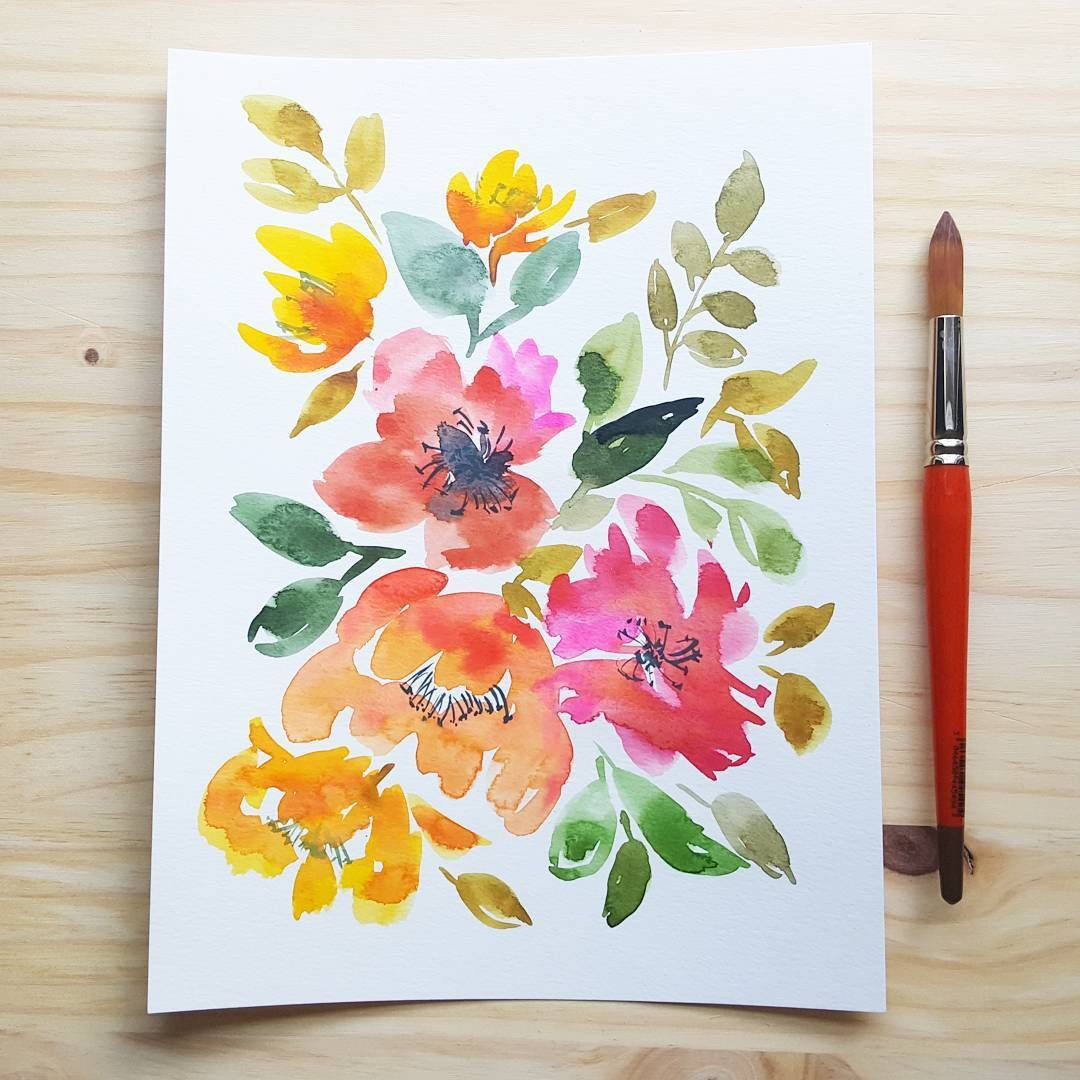 Want To Learn To Use Watercolors One Day Floral Watercolor