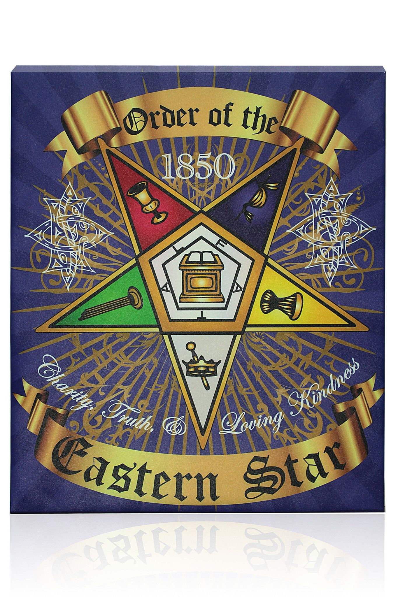 OES Canvas Wall Hanging | ☆OES★ | Eastern star, Stars ...