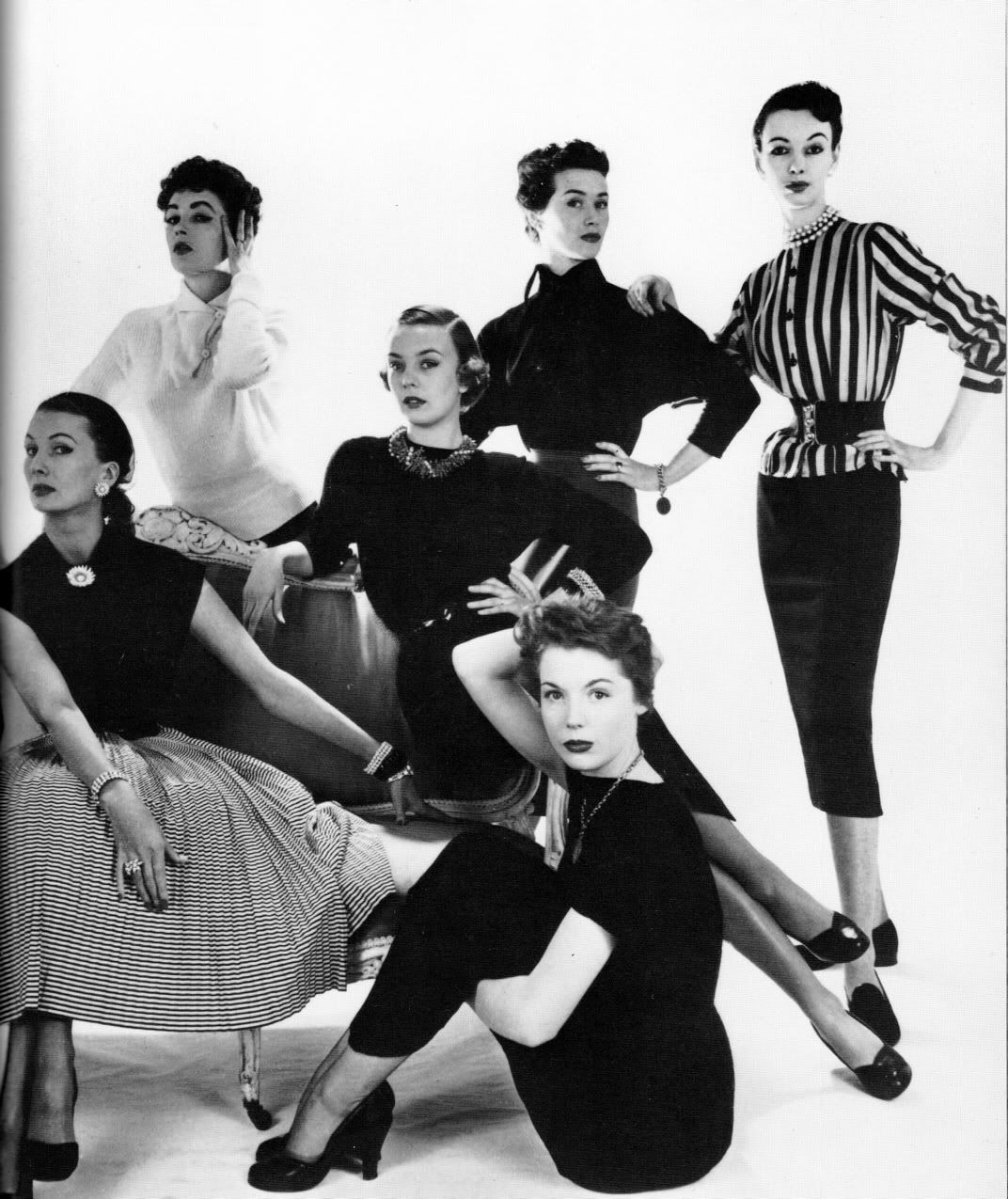 C.1950's Women's 50's fall fashion dresses photo ...