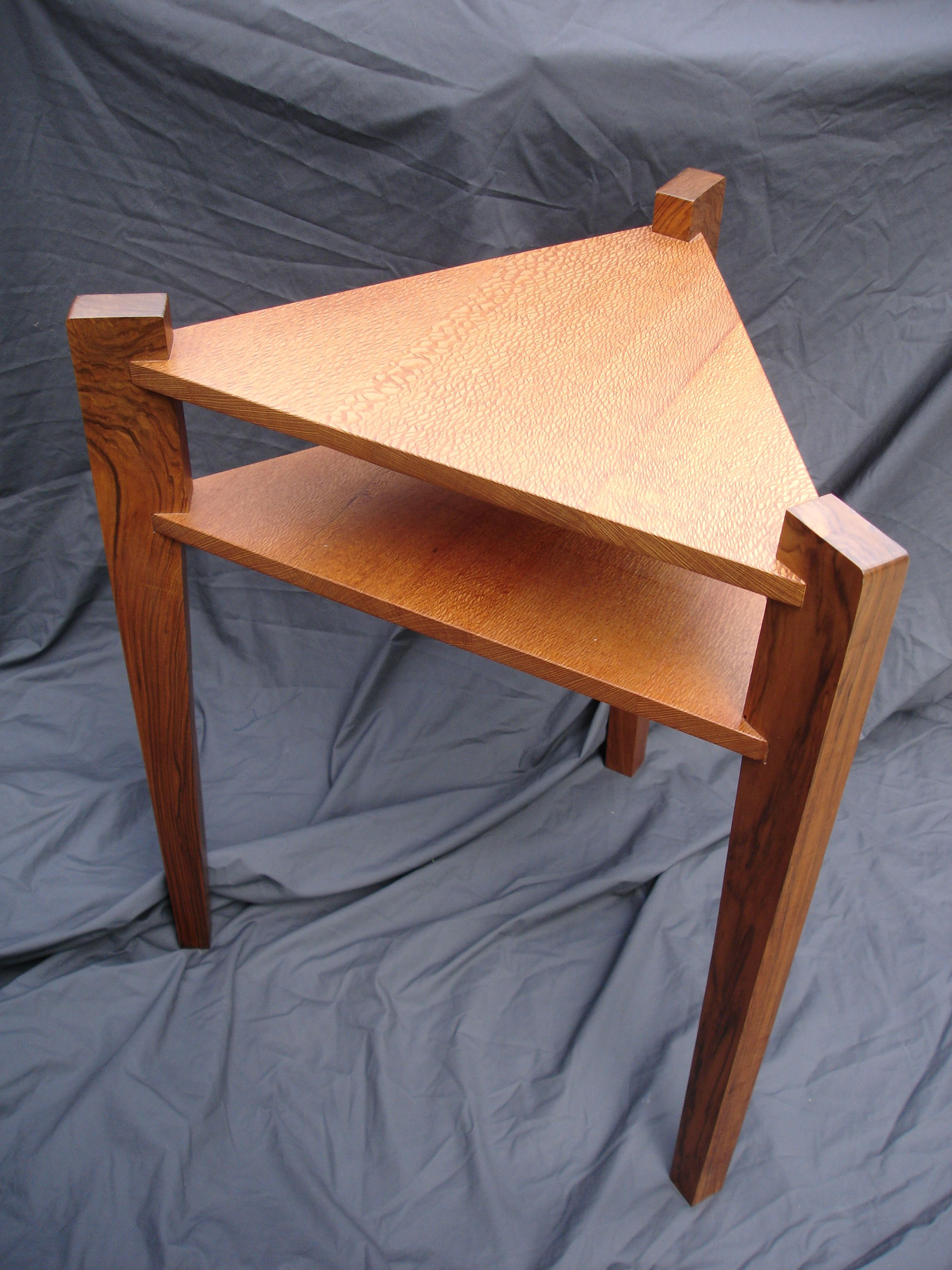 My Bedside Table: Triangle Table For My Bedside. Only About 2 1/2 Feet