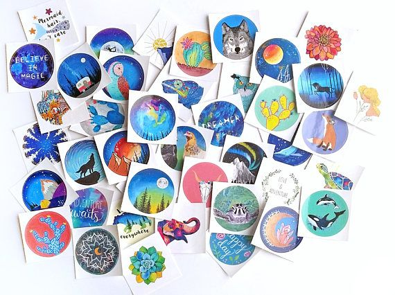 Round Animal Stickers