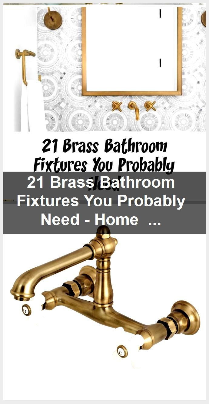 Photo of 21 Brass Bathroom Fixtures You Probably Need – Home Decoration,  #Bathroom #Brass #Decoration…