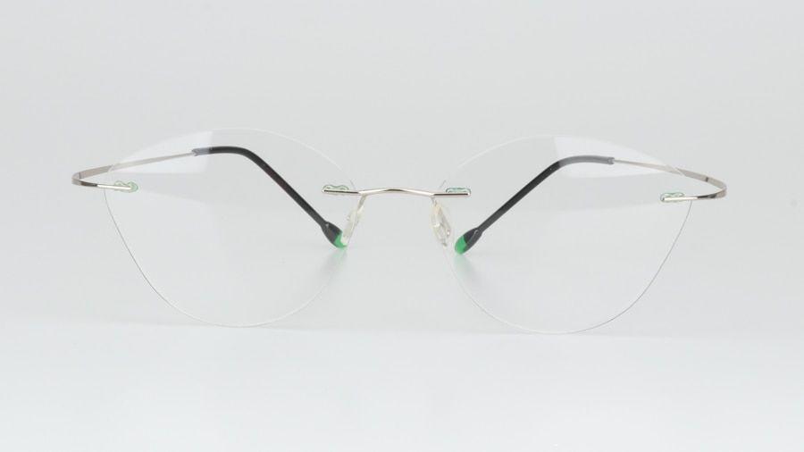 5c45f808a4b No screw weld design rimless titanium alloy cat eye clear glasses frame  prescription eyeglasses women optical frame eyewear