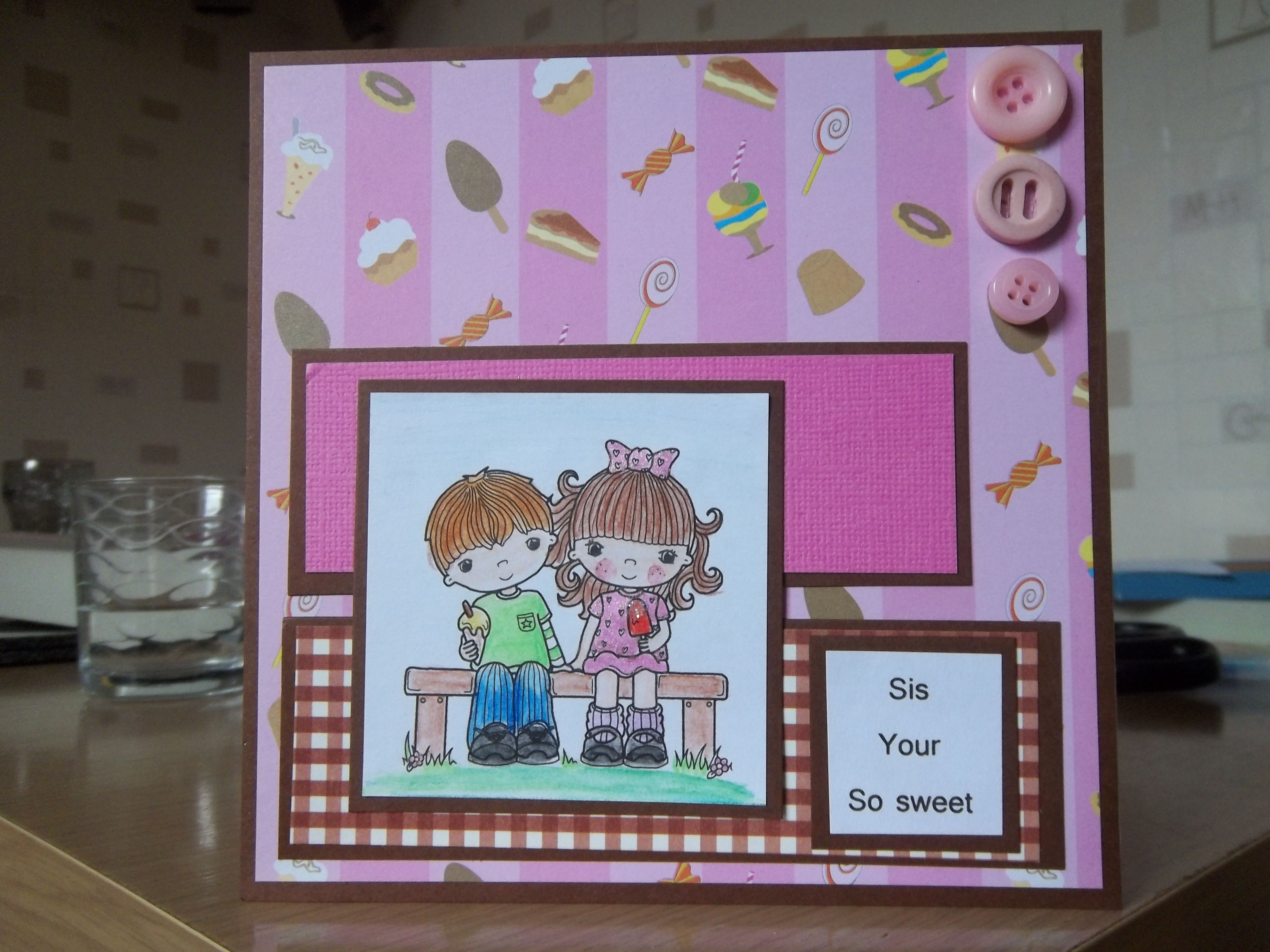 Birthday card from brother to sister birthday cards