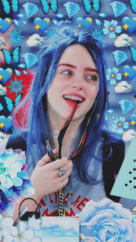 Billie Billie Billie Eilish Blue Aesthetic