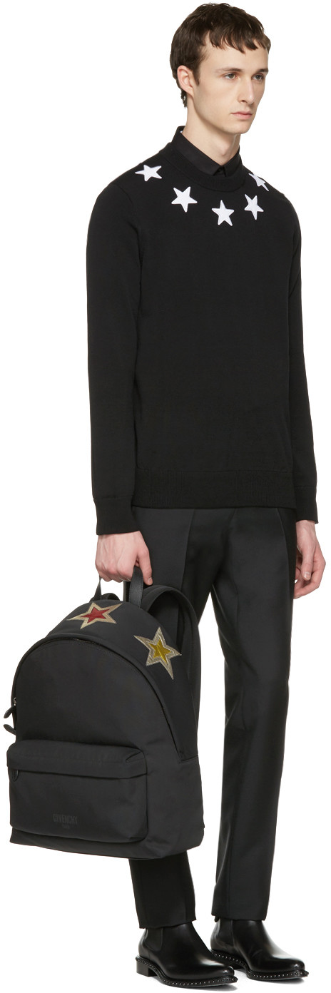 Givenchy - Black Embroidered Stars Pullover