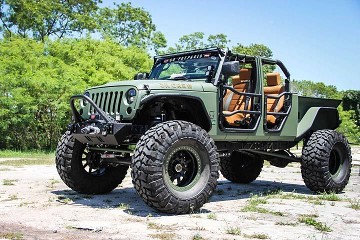 The Jk Crew Is A Jeep Wrangler Cranked Up To 11 Jeep Wrangler Truck Badass Jeep Wrangler Truck