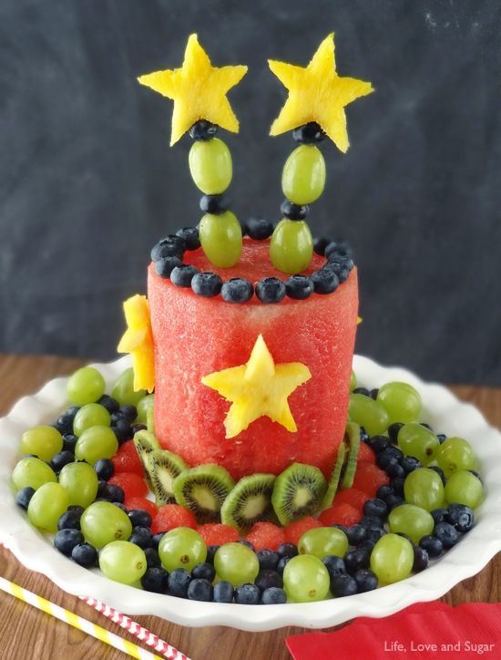 Birthday Cake Made Out Of Fruit How To Make An All Fruit Party Cake