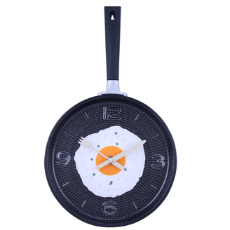 Creative Funny Omelette Pan Wall Clock Kitchen Decor Clock #cooking #breakfast #egg #omelette #clock #kitchen #time