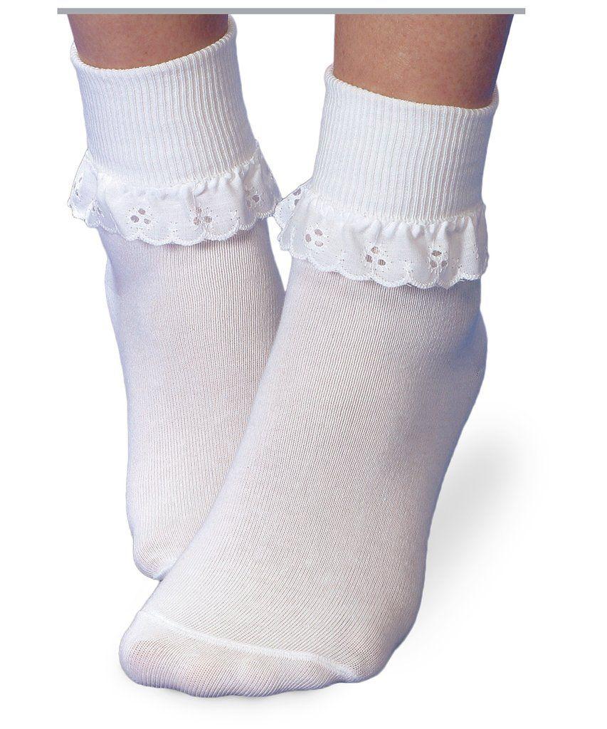 8e8d356401120 White Eyelet Lace Turn Cuff Sock by Jefferies Socks * TOD XS ...