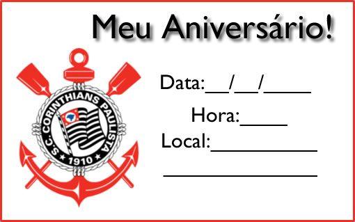 Convite Do Corinthians Aniversario Infantil Com Imagens