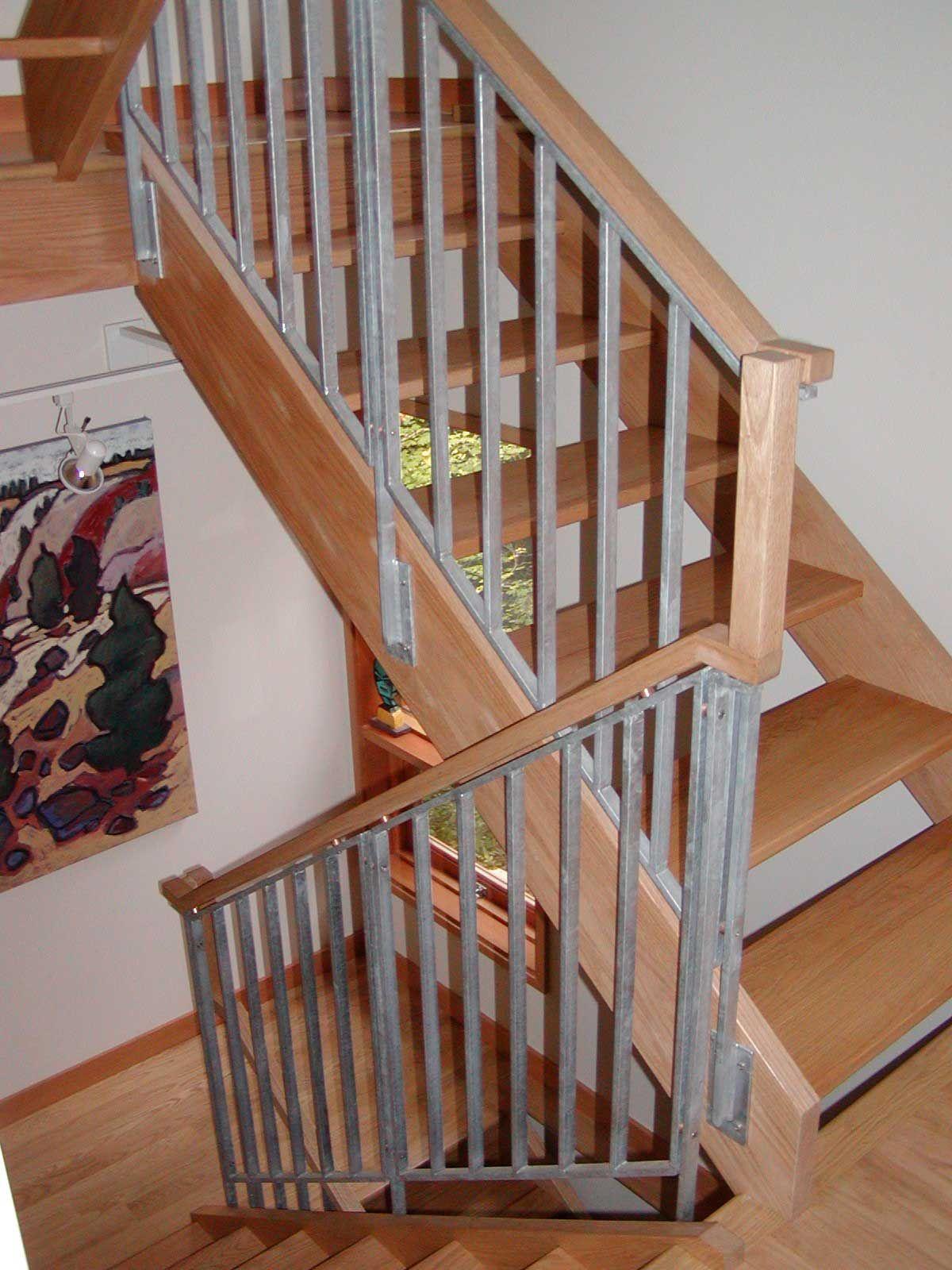 Wood Stair Railings Interior Kris Allen Daily Wooden Staircase   Wood Stair Railings Interior   Residential   Craftsman Style   2Nd Floor   Paint   Rosette