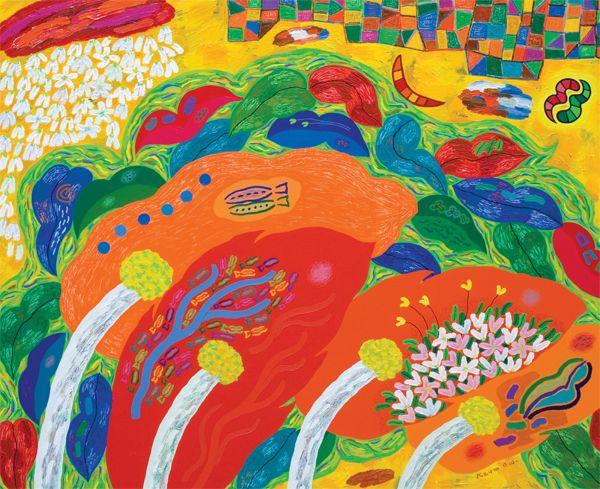 금동원 KEUM, Dong-Won / The forest of thought-the tree, river of leaves / 162 x 130.3cm / Acrylic on canvas / 2011